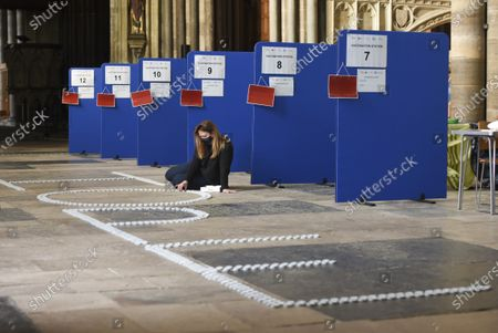 Editorial picture of Candle display at Salisbury Cathedral, UK - 09 Mar 2021