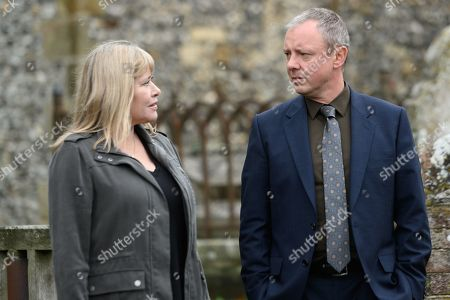 John Simm as DS Roy Grace and Maggie O'Neill as Gill.