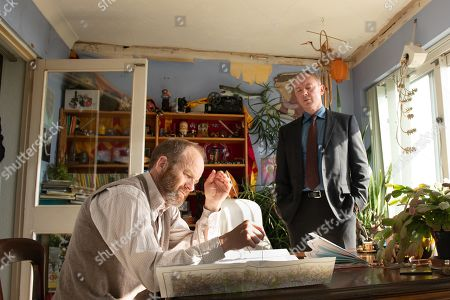 John Simm as DS Roy Grace and Adrian Rawlins as Harry Frame.