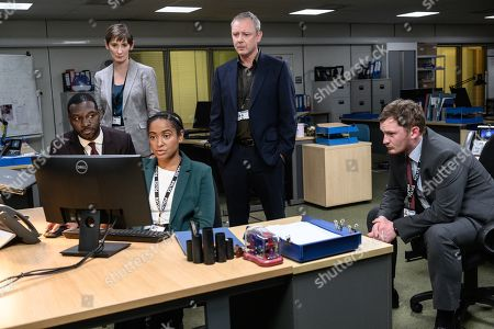 John Simm as DS Roy Grace, Richie Campbell as DS Branson, Laura Elphinstone as DS Moy, Amaka Okafor as DC Boutwood and Brad Morrison as DC Nicholl.