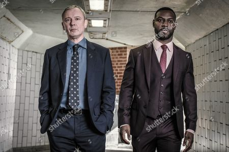 Stock Image of John Simm as DS Roy Grace and Richie Campbell as DS Branson.