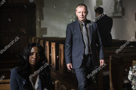 John Simm as DS Roy Grace and Alisha Bailey as Ashley.