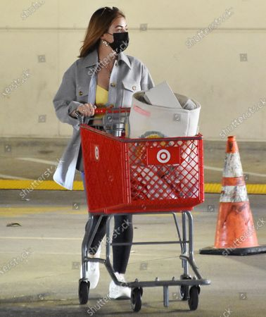 Stock Picture of Lucy Hale goes to target in Studio City