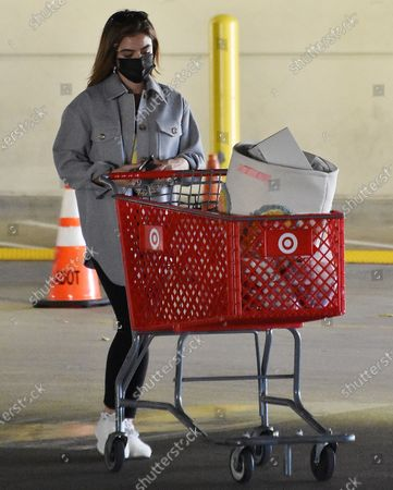 Stock Photo of Lucy Hale goes to target in Studio City