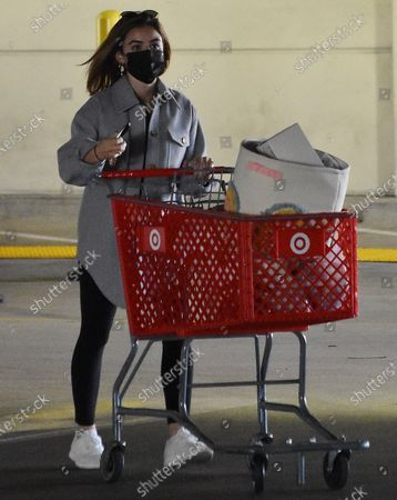 Lucy Hale goes to target in Studio City