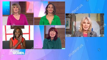 Ruth Langsford, Frankie Bridge, Kelle Bryan, Janet Street-Porter and Joanna Lumley
