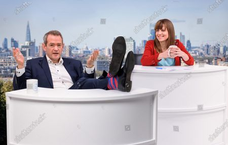 Stock Picture of Alexander Armstrong and Rachel Stubbings co-host a fictional morning news and chat show, in which they will discuss the best and worst of British TV from an environmental perspective.