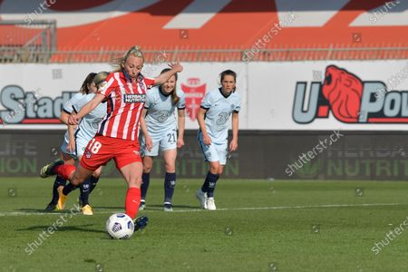 Editorial picture of Atletico de Madrid v Chelsea FC, UEFA Women's Champions League, Round of 16 football match, U-Power Stadium, Monza, Italy - 10 Mar 2021