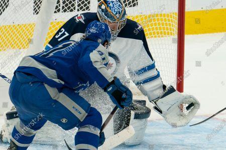 Editorial image of Jets Maple Leafs Hockey, Toronto, Canada - 09 Mar 2021