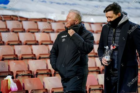 Steve McClaren of Derby County gestures and reacts during the EFL Sky Bet Championship match between Barnsley and Derby County at Oakwell, Barnsley