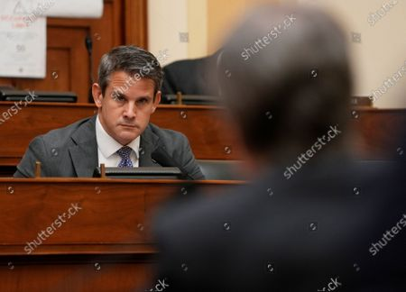 Stock Image of Rep. Adam Kinzinger listens as US Secretary of State Antony Blinken testifies before the House Committee on Foreign Affairs on the Biden Administration's Priorities for US Foreign Policy, on Capitol Hill in Washington, DC, USA, 10 March 2021.