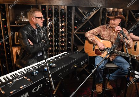 Stock Picture of Tracy Lawrence and Phil Vassar, Tracy stops by the Circle Television Network, 'Phil Vassar's Songs from the Cellar', in Nashville, TN. Airing in March 11, 2021 on Circle and American Songwriter Podcast Network @PhilVassarSFTC @circleallaccess