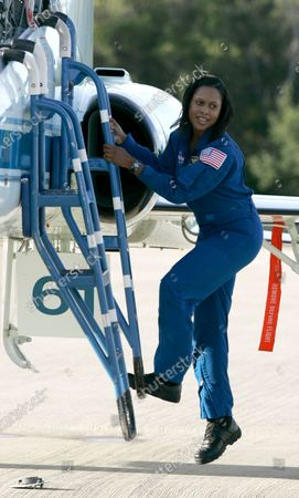 """Space Shuttle Discovery Mission Specialist Joan Higginbotham arrives at the Kennedy Space Center for the terminal countdown demonstration test in Cape Canaveral, Fla. on . A group encouraging STEM professionals to run for public office is pushing the former astronaut to enter North Carolina's Democratic primary for an open Senate seat. Higginbotham, the third Black woman to go to space, is """"seriously, seriously"""" considering entering the race and is """"doing all the things that candidates who are looking to run for office are doing,"""" according to Josh Morrow, co-founder and executive director of 314 Action, who spoke with her on Tuesday, March 9, 2021 about the potential candidacy"""