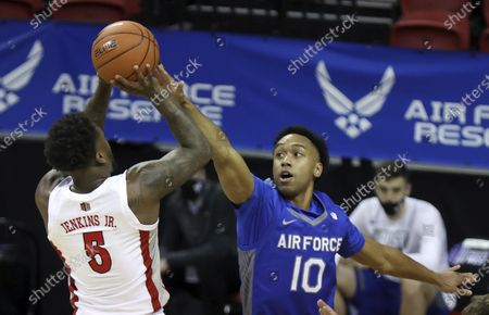 Editorial picture of MWC Air Force UNLV Basketball, Las Vegas, United States - 10 Mar 2021