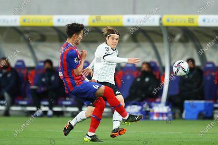 Stock Image of Gotoku Sakai (Vissel) - Football / Soccer :  2021 J1 League match  between FC Tokyo 2-3 Vissel Kobe  at Ajinomoto Stadium, Tokyo, Japan.