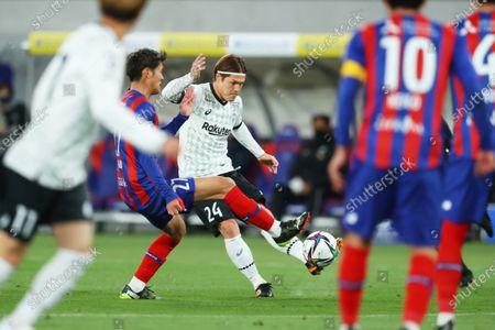 Gotoku Sakai (Vissel) - Football / Soccer :  2021 J1 League match  between FC Tokyo 2-3 Vissel Kobe  at Ajinomoto Stadium, Tokyo, Japan.