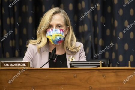 Representative Abigail Spanberger, D-VA, speaks during a House Foreign Affairs Committee hearing in Washington, DC on Wednesday, March 10, 2021. The Biden administration is considering withdrawing all troops from Afghanistan by May 1 as it leans on President Ashraf Ghani to accelerate peace talks with the Taliban, including by supporting a proposal for six-nation discussions that include Iran.