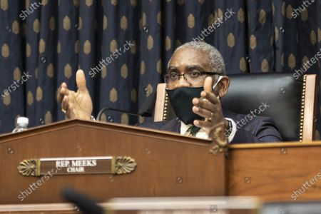 Representative Gregory Meeks, a Democrat from New York, and chairman of the House Foreign Affairs Committee, speaks during a House Foreign Affairs Committee hearing in Washington, DC on Wednesday, March 10, 2021. The Biden administration is considering withdrawing all troops from Afghanistan by May 1 as it leans on President Ashraf Ghani to accelerate peace talks with the Taliban, including by supporting a proposal for six-nation discussions that include Iran.