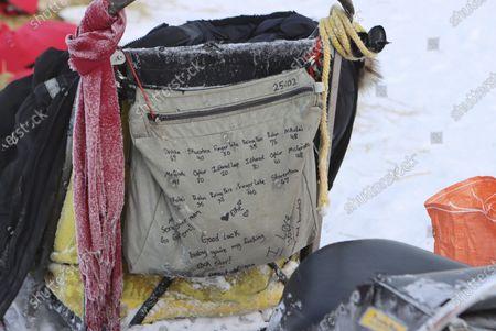 Redaktionelt foto af Iditarod Sled Dog Race, Mcgrath, United States - 10 Mar 2021