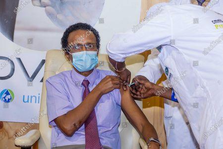 Editorial picture of The Gambia Banjul President Cabinet Covax Covid 19 Vaccine - 10 Mar 2021