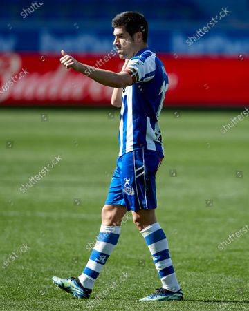 Stock Photo of Manuel Alejandro Garcia of Deportivo Alaves reacts during the La Liga match between Deportivo Alaves and Cadiz CF at Mendizorrotza stadium on March 13, 2021 in Vitoria, Spain.