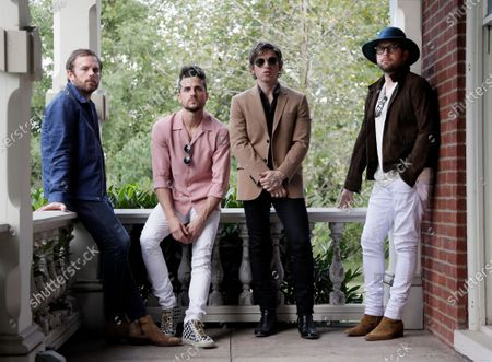 """The Kings of Leon, from left, Caleb Followill, Jared Followill, Matthew Followill and Nathan Followill pose in Nashville, Tenn. on . The Nashville-based rockers Kings of Leon released their eighth studio album, """"When You See Yourself"""" in January"""