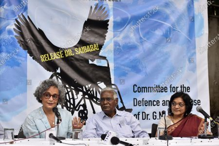 Editorial image of Activists Press Conference For Demanding Release Of GN Saibaba On Medical Grounds, New Delhi, Delhi, India - 10 Mar 2021