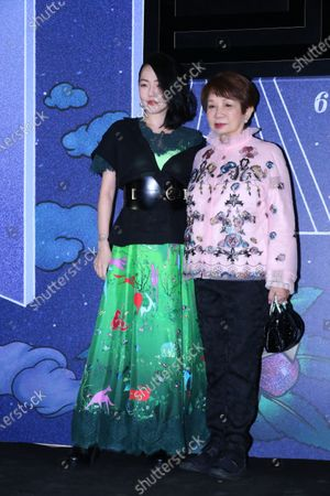 Stock Image of Dee Hsu attends the Shiatzy Chen AW21 fashion show with her mother-in-law in Tai