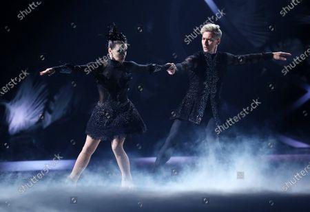 Stock Photo of Faye Brookes and Hamish Gaman