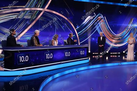 Ashley Banjo, John Barrowman, Jayne Torvill,  Christopher Dean, Phillip Schofield and Holly Willoughby