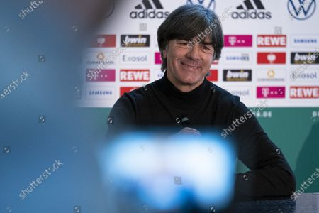 Digital press conference from DFB headquarters in Frankfurt am Main with DFB President Fritz Keller, Federal coach Joachim Loew and DFB Director National Teams and Academy Oliver Bierhoff, moderation by Jens Grittner