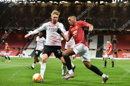 Editorial image of Manchester United vs AC Milan, United Kingdom - 11 Mar 2021