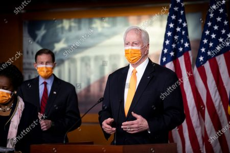 United States Representative Mike Thompson (Democrat of California) offers remarks during a press conference on passage of gun violence prevention legislation at the U.S. Capitol in Washington, DC,.