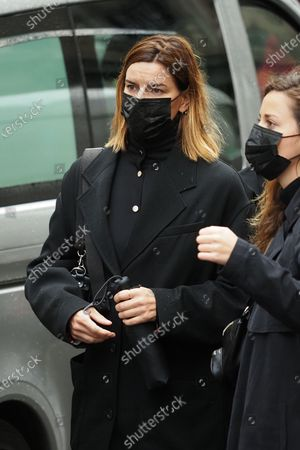 Stock Image of Fauve Hautot at the funeral of ballet dancer Patrick Dupond at Saint-Roch Church