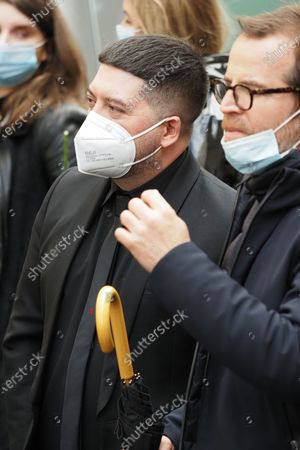 Stock Photo of Chris Marques at the funeral of ballet dancer Patrick Dupond at Saint-Roch Church