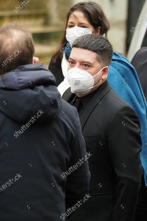 Stock Image of Chris Marques at the funeral of ballet dancer Patrick Dupond at Saint-Roch Church