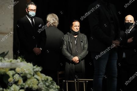 Francis Lalanne at the funeral of ballet dancer Patrick Dupond at Saint-Roch Church