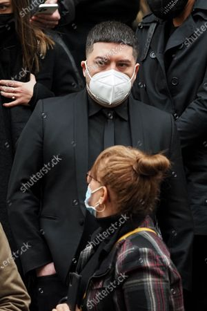 Chris Marques attends Patrick Dupond's funeral at Saint-Roch Church