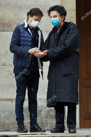 Jack Lang attends Patrick Dupond's funeral at Saint-Roch Church