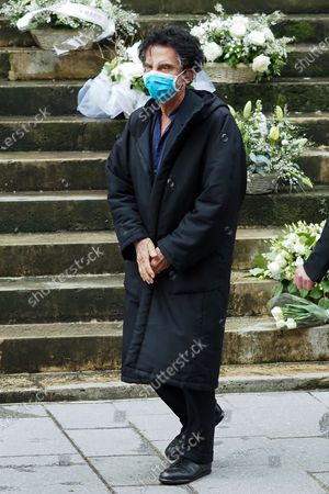 Stock Picture of Jack Lang attends Patrick Dupond's funeral at Saint-Roch Church