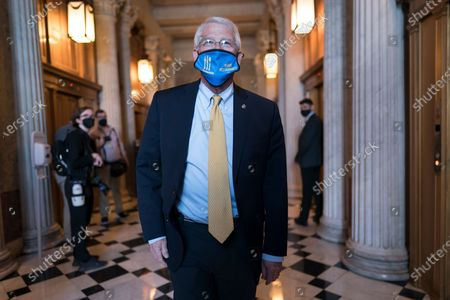Sen. Roger Wicker, R-Miss., leaves the Senate chamber following a procedural vote on the nomination of Xavier Becerra, President Joe Biden's pick to be secretary of Health and Human Services, at the Capitol in Washington