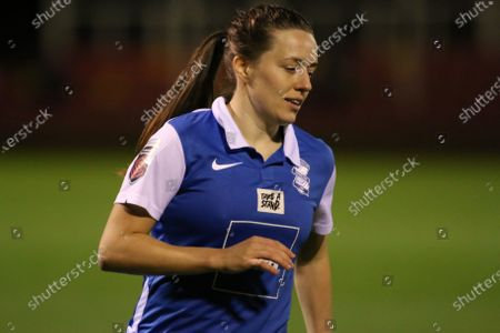 Harriet Scott (#3 Birmingham City) during the FA Womens Super League 1 game between Birmingham City and Everton at St Georgeâ€s Park National Football Centre in Burton upon Trent.