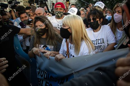 Editorial image of Family and fans come out to demonstrate demanding justice for Maradona, Buenos Aires, Argentina - 10 Mar 2021