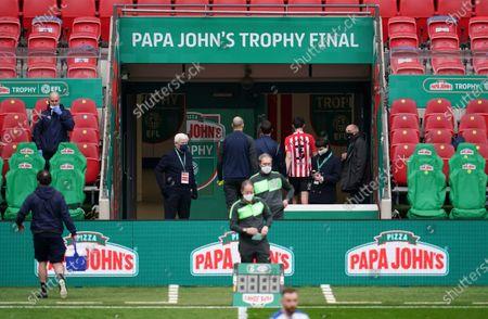 Editorial photo of Sunderland v Tranmere Rovers, Papa John's Trophy 2021, Final, Football, Wembley Stadium, London, UK - 14 Mar 2021