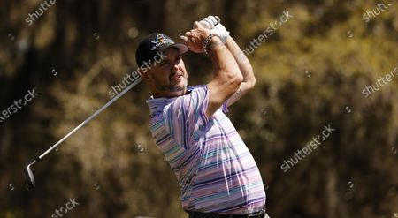 Stock Picture of Rory Sabbatini of Slovakia hits his tee shot on the sixth hole during the second round of THE PLAYERS Championship golf tournament at TPC Sawgrass, in Ponte Vedra Beach, Florida, USA, 12 March 2021.