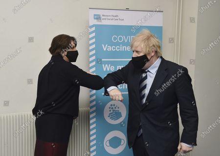 Editorial picture of Northern Ireland Boris Johnson, Enniskillen, United Kingdom - 12 Mar 2021
