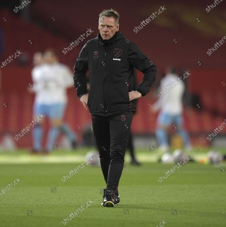 Stock Picture of Stuart Pearce of West Ham United watches warm up