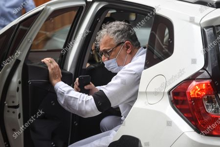 TMC MP Derek O Brien arrives at Nirvachan Sadan to meet the Election Commission of India over the alleged attack on West Bengal Chief Minister Mamata Banerjee, on March 12, 2021 in New Delhi, India.