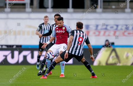 Aston Villa midfielder Mahmoud Hassan (17)  during the Premier League match between Newcastle United and Aston Villa at St. James's Park, Newcastle