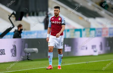 Stock Image of Aston Villa midfielder Mahmoud Hassan (17)  during the Premier League match between Newcastle United and Aston Villa at St. James's Park, Newcastle